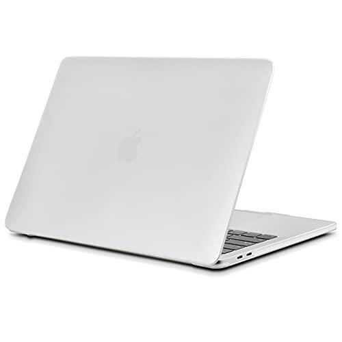 TECOOL Funda para MacBook Pro 13 2016-2020 (Modelo: A2338 M1/A2289/A2251/A2159/A1706/A1708/A1989), Delgado Cubierta de Plástico Dura Case Carcasa para MacBook Pro 13 Touch Bar - Mate Transparente