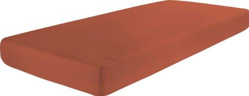 Dormisette Q186 Biber-Spannbetttuch Größe 90/190 bis 100/200 cm für Matratzen bis ca. 22 cm Höhe, terrakotta