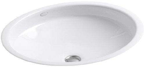 KOHLER K-2874-0 Canvas Cast Iron Bathroom Sink, White