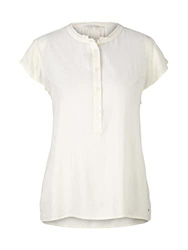 TOM TAILOR Denim Damen 1022409 Basic Bluse, 22515-Soft Creme Beige, XL