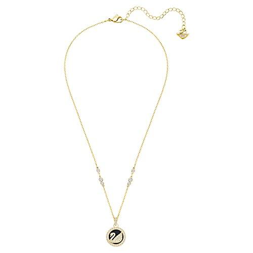 xu Collar de Cisne de Amor Pendientes de Cuero Negro Regalo de cumpleaños de Swarovski Pulsera romántica