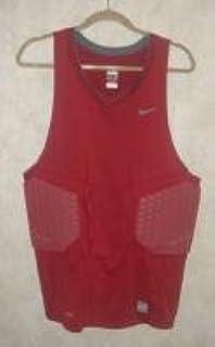 aee4284e Amazon.com: Nike Pro Combat Basketball Padded Compression Shirt Red XLT:  Sports & Outdoors