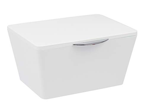 Wenko Brasil Caja con Tapa, Elastómero Termoplástico, Blanco, 15.5x19x10 cm
