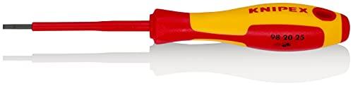 KNIPEX Schraubendreher für Schlitzschrauben 1000V-isoliert (177 mm) 98 20 25