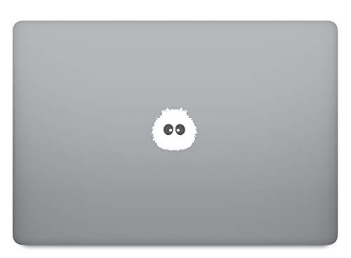 Zottel Monster Aufkleber Laptop Sticker Folie geeignet für alle neumodischen & Alten Apple MacBook Modelle (11 Zoll, 12 Zoll, 13 Zoll, 15 Zoll, 16 Zoll, 17 Zoll)