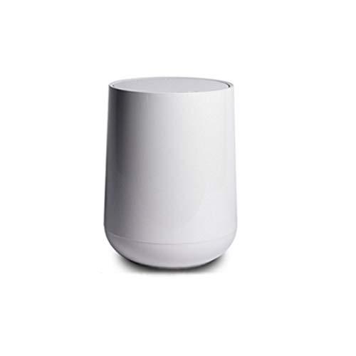 Papelera Bote de basura Papelera de basura tapa papelera de reciclaje de residuos caja cubierta de dispositivos de almacenamiento for baño Dormitorio Cubo de Basura ( Color : Gris , tamaño : 12L )