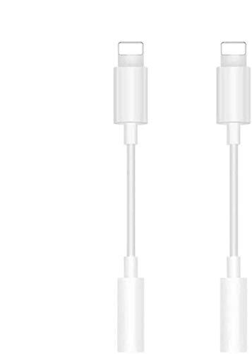 [Apple MFi Certified] iPhone 3.5 mm Headphone Jack Adapter, 2 Pack Lightning to 3.5 mm Headphone AUX Audio Stereo Connector Compatible with iPhone 12/11/XS/XR/X 8 7/iPad, Support Call + Music Control