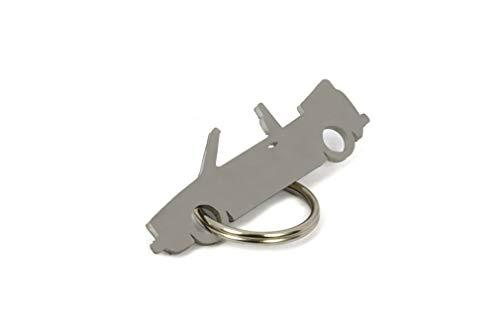 01 CarShape Schlüsselanhänger aus Edelstahl - Auto KFZ Tuning Keychain Key Fob - Kompatibel mit VW Golf 1 Cabrio