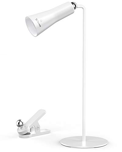 LED Desk Lamp, Multifunctional Table Lamps, YePexwo 2-in-1 Magnetic Rechargeable Eye-Caring Office Lamp, Touch Control 3 Brightness Levels USB C Charging Cable Flashlight Bedside Lamp