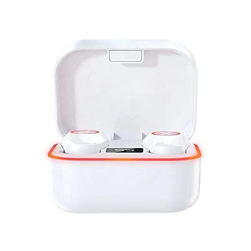 Auriculares intrauditivos inalámbricos con cancelación de ruido y sonido claro (tamaño: como se muestra en la imagen; color: blanco)