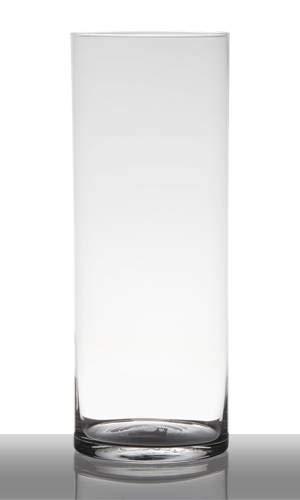 INNA-glas grote vaas glas Sansa, cilinder - rond, helder, 40cm, Ø 15cm - hoge vaas - glazen vaas