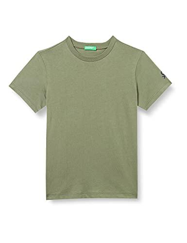 United Colors of Benetton T-Shirt 3I1XC13E1 Camiseta, Verde Militar 07n, XL para Niños