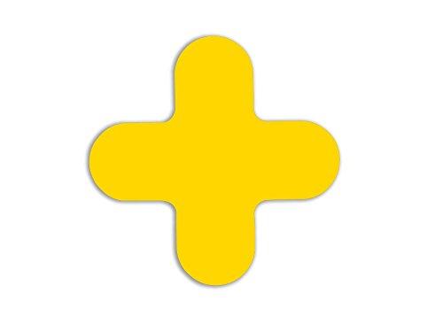 Bodenmarkierungen, X-Stücke, Gelb (20-er Pack)