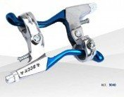 2 X MANETAS DE Freno Bicicleta Azul/Plata Metal Frenos Bici, MTB BTT Trekking