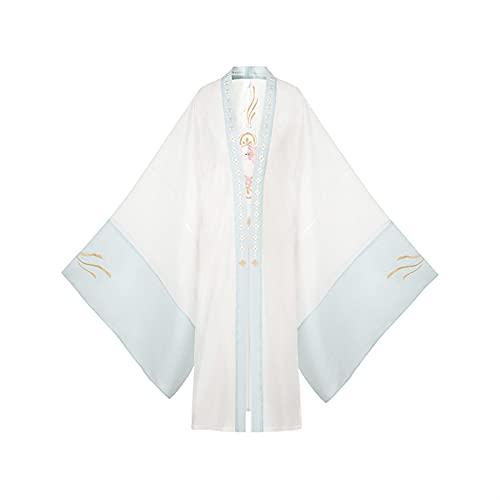 Heavy Industry Camisa de manga ancha con bordado original Hanfu chaqueta de verano para mujer (color solo camisa de manga grande, tamaño: L.)