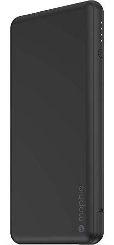 """ZAGG Mophie """"Powerstation Plus"""" Powerbank mit 12000 mAh, USB-A und USB-C Anschluss, Matt Schwarz"""