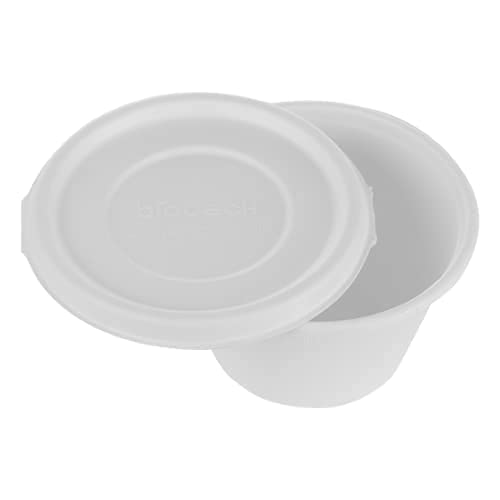 Envase desechable Comida para Llevar con Tapa 500ml, Bowl Sopa Caña de Azúcar ideal para alimentos frios y calientes, con y sin Liquido, 100% Biodegradable, paquete con 25 unidades