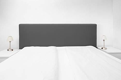 Boxspringbezug; Betthusse; Boxspringbetthusse; Staubhülle; (universelle Größe, 140-180cm) Husse - Kopfteilbezug, (Anthrazit) 51880-005 -Das Original