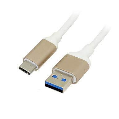 Azazazaz@ behuizing van aluminiumlegering USB-C-stekker 3,1 C type voor het schrijven van een mannelijke datakabel van Chromebook & White Macbook