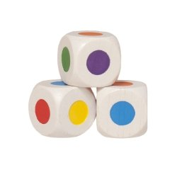Bartl 104678 - Farbwürfel (1 Stück) 16 mm, weiß, 6 Farb