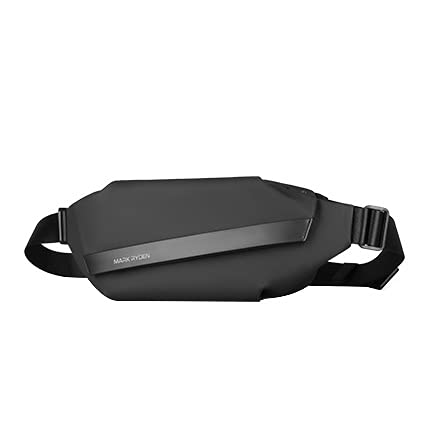Voupuoda Bolso de Pecho con Hebilla magnética Bolso de Hombro único Impermeable de Varias Capas Bolso Cruzado para Hombres
