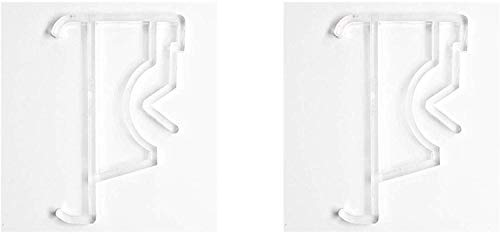 Levolor Valance Clips, Clear Plastic