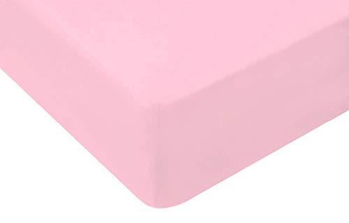 TM Maxx Jersey Spannbettlaken für Baby und Kinder mit Öko-Tex Standard (Rosa 005, 80x180) Spannbetttuch aus 100% Baumwolle
