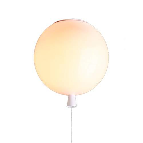 Lampade a Sospensione Palloncino Infissi LED - Interno Casa Bambini Camera da Letto E27 Risparmio Energetico Paralumi(Lampadina non è Inclusa) Bianco 25CM