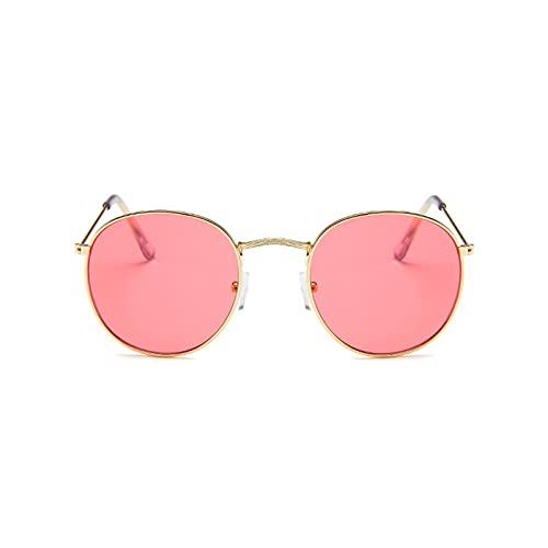FOTBIMK Gafas de sol de mujer Multicolor Colorido Retro Tendencia Reflectante Gran Marco Funglasses Deportes Al aire libre Cam