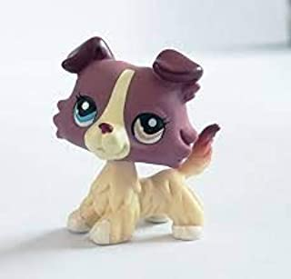 Mini Action Figure Dog Toy - Little Cute Cartoon Collie Dog - Action Figure Pet Toy for Kids - Collectible Small Dog Toy