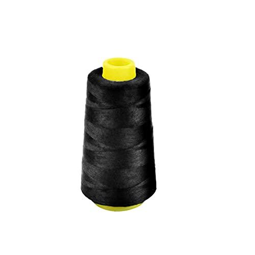 EUROXANTY Bobina hilo para coser   Hilo 100% Poliéster   Hilo resistente y duradero   Bobina para coser a máquina   Hilo para coser a mano   3000 M   (NEGRO)