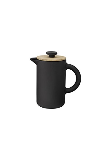 Stelton x-636 - Kaffeebereiter, Pressfilterkanne - Theo - 0,8 Liter - Keramik - schwarz