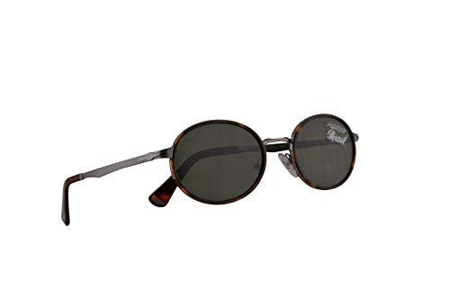 Persol 2457-S Sonnenbrillen Gunmetal Silberne Braunen Mit Grüne Gläsern 52mm 51331 PO 2457S PO2457S PO2457-S