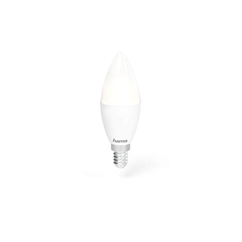 Hama E14 wifi-ledlamp, kaarsvorm, 4,5 W, zonder hub, dimbaar, bestuurd via Alexa/Google Home/App/IFTTT, 2,4 GHz, warm/neutraal/daglichtwit, WLAN-lamp Echo Dot/Echo Spot/Echo Plus/Echo Show compp