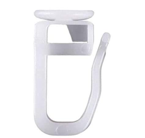 Flachkopfgleiter eckig | 50 Stück | Kopf 11x10mm | Haken Gardinengleiter Vorhang