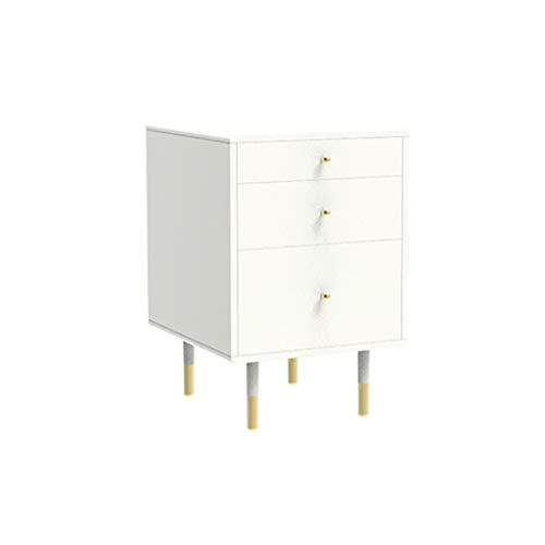 TXXM® Herstellung Nachttisch Schlafzimmer Spind, Schlafzimmer Nachttisch, Wohnzimmer Locker, Wohnzimmer Sofa Seitenschrank Praktische Möbel (Color : White)