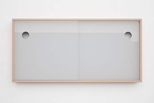 Schiebetüren für IKEA Kallax Regal Acrylglastüren Glasvitrine Glastür Laufschiene mit Holzrahmen für Bücher Deko Sammelstücke (Weiß)