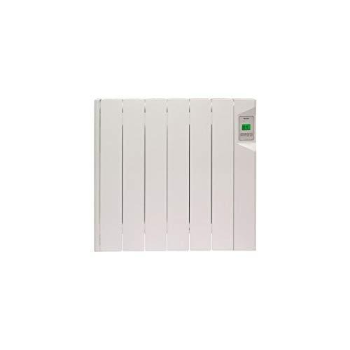 DUCASA-Radiatore elettrico 0,636.267 radiatore moderno, da parete, a fluido termico, 600 W-Electronique-Aff.LCD-Filo pilota a 6 ordine