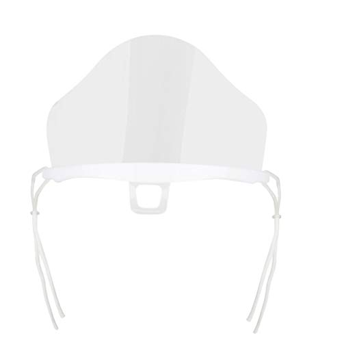 10PCS Plastic Clear Face Shield,Reusable and Washable Anti-Fog Transparent FaceMask for Beauty Salon Restaurant Hotel 3