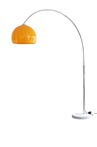 Sit Möbel This & That vloerlamp 208 cm oranje hoogglans metaal, marmer, kunststof L = 155 x B = 40 x H = 208 cm oranje, zilver
