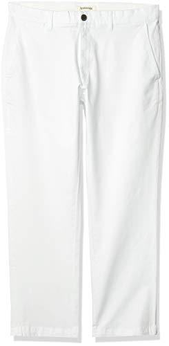 Marque Amazon - Goodthreads Pantalon chino en élasthanne délavé et confortable pour homme à coupe droite, blanc, 35W x 29L
