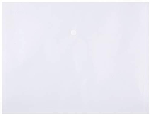 DONAU 8544001PL-00 Dokumententasche/Sammelmappe mit Druckknopf, PP, A4, 180μm, transparent