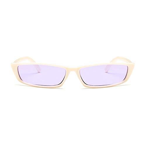 MeterBew1147 Gafas de Sol de Forma Cuadrada Vintage para Mujer, Gafas de Sol con Personalidad UV400, Montura de PC, Lentes de Resina, Gafas de Sol de Viaje