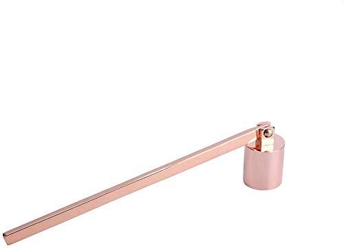 Hztyyier Apagavelas Accesorio de Vela de Acero Inoxidable con Mango Largo para Apagar de Forma Segura Apaga la Llama de Las mechas de Vela, 4 Colores Opcionales(Oro Rosa)