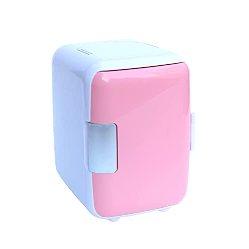 YUQIYU 4L Refrigerador de coches Automoville Mini Frigorífico Refrigeradores Congelador Caja de enfriamiento en frío Comida Fruta Almacenamiento Coche Nevera Compresor A35 (Color Name : Pink)