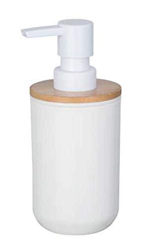 WENKO DIE BESSERE IDEE Distributeur Savon Liquide Bambou, Posa Blanc
