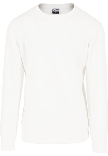 Urban Classics Pullover Diamond Quilt Crewneck Pull Homme, Blanc (Offwhite), (Taille Fabricant: Large)