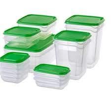 IKEA Lebensmittelaufbewahrung Pruta 17er Set grün