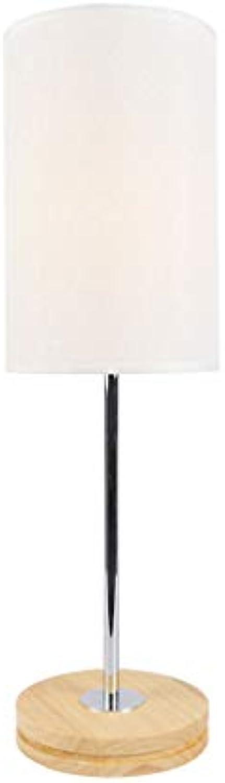 HAN NAA Tischlampe, Tischlampe Kreative Augenschutz Lernen Schlafzimmer Massivholz Dekorative Stoff Einfache Bett Lesen, Tischlampe
