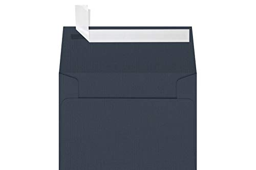 """LUXPaper A1 Invitation Envelopes for 3 1/2"""" x 4 7/8"""" Cards in 80lb. Nautical Blue Linen, Printable Envelopes for Invitations, w/ Peel and Press Seal, 250 Pack, Envelope Size 3 5/8"""" x 5 1/8"""" (Blue)"""
